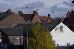 Oude gebouwen Levenshulme Manchester het UK stock afbeeldingen