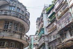 Oude gebouwen in Macao Stock Afbeeldingen