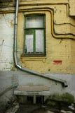 Oude gebouwen op de straten van Kiev Stock Foto's