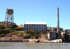Oude Gebouwen op Eiland Alcatraz stock foto's