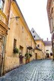 Oude gebouwen op Enescu-Vierkant Royalty-vrije Stock Afbeelding