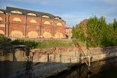 Oude gebouwen op Nieuwe Holland Island Stock Afbeelding