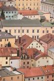 Oude gebouwen in Passau, Duitsland royalty-vrije stock foto's