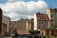 Oude gebouwen in Poznan, Polen Stock Afbeelding