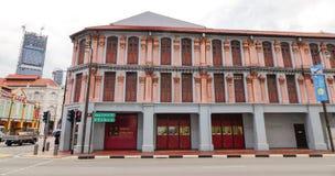 Oude gebouwen in Singapore Stock Foto