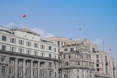 Oude gebouwen van Shanghai Royalty-vrije Stock Afbeeldingen
