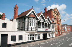 Oude gebouwen van Worcester Royalty-vrije Stock Foto