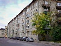 Oude gebouwen in Vyborg, Rusland Royalty-vrije Stock Afbeeldingen
