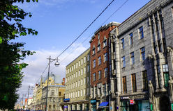 Oude gebouwen in Vyborg, Rusland Stock Afbeelding