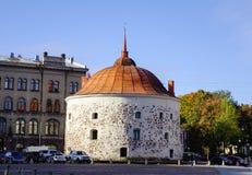 Oude gebouwen in Vyborg, Rusland Royalty-vrije Stock Foto's