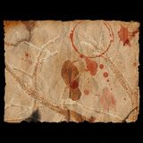 Oude gebrande document & raaf Stock Illustratie