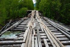 Oude gebroken brug Stock Fotografie