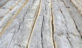 Oude gebroken houten muur Stock Afbeelding