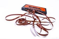Oude gebroken muziekcassette Royalty-vrije Stock Afbeelding