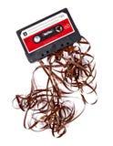 Oude gebroken muziekcassette Royalty-vrije Stock Foto's