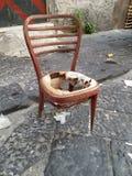 Oude gebroken stoel Stock Afbeelding
