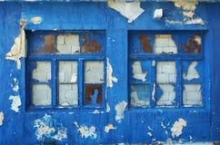 Oude gebroken vensters Stock Foto's