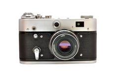 Oude gebruikte vuile ouderwetse filmphotocamera Royalty-vrije Stock Foto