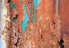 Oude gegalvaniseerd roestig stock afbeelding