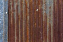 Oude gegalvaniseerd roestig Stock Foto's