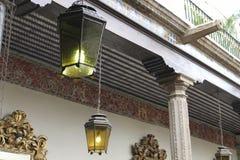 Oude geketende lantaarns, Casa DE los Azulejos, CDMX stock fotografie