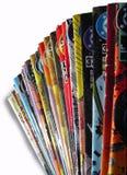 Oude Gekleurde Strippagina Stock Afbeelding