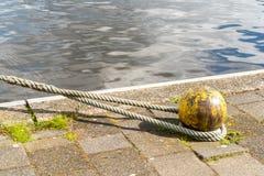 Oude geknoopte kabel Stock Foto