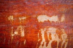 Oude gekraste houten textuur Stock Foto