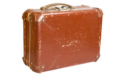 Oude gekraste koffer royalty-vrije stock foto