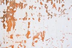 Oude gekraste witte en oranje achtergrond Stock Foto