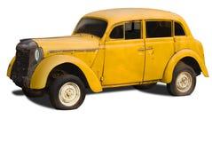 Oude gele auto Stock Foto