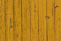 Oude gele houten plankoppervlakte Stock Foto