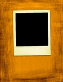 Oude Gele Polaroidcamera (het knippen inbegrepen weg) Stock Fotografie