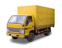 Oude Gele vrachtmachine Royalty-vrije Stock Afbeelding