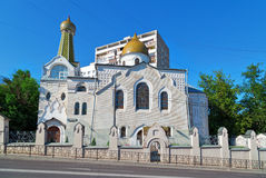 Oude Gelovigenkerk van Interventie Moskou, Rusland Stock Foto