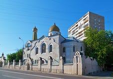 Oude Gelovigenkerk van Interventie Moskou, Rusland Stock Afbeeldingen
