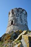 Oude Genoese-toren Royalty-vrije Stock Fotografie