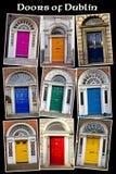Oude Georgische Deuren van Dublin Royalty-vrije Stock Fotografie