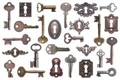 Oude geplaatste sleutels royalty-vrije stock afbeelding