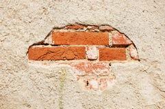 Oude gepleisterde bakstenen muur Royalty-vrije Stock Foto's