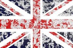 Oude gepleisterde muur met een vlag van Groot-Brittannië Royalty-vrije Stock Afbeeldingen