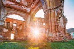 Oude Geruïneerde Orthodoxe Kerk van St Nicholas In Village Lenino Royalty-vrije Stock Foto