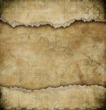 Oude gescheurde document uitstekende kaartachtergrond Stock Fotografie