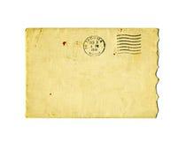 Oude gescheurde envelop met de postzegel van 1941 Stock Afbeeldingen