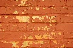 Oude geschilderde bakstenen muur. Royalty-vrije Stock Afbeeldingen