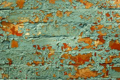 Oude geschilderde bakstenen muur. Royalty-vrije Stock Fotografie