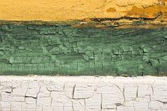 Oude geschilderde hout en muur Stock Foto