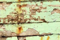 Oude geschilderde houten achtergrond Stock Fotografie