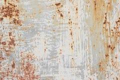 Oude geschilderde metaalachtergrond met roest royalty-vrije stock afbeelding