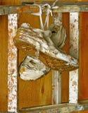 Oude geschilderde tennisschoenen Stock Foto's